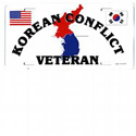 Korean Conflict Veteran License Plate, JAGLP128