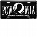POW MIA License Plate, JAGLP131