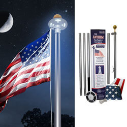 Anthem Ground Set Residential 20 ft. Flagpole Kit with Solar Light, KANTHEM20