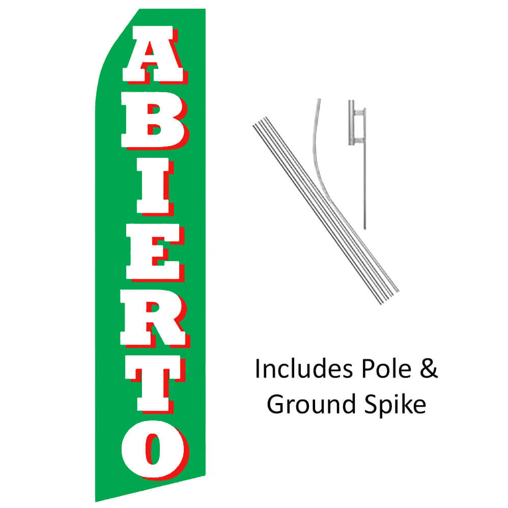 Abierto Swooper Flag Kit, FBPP0000013598