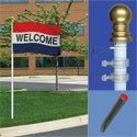 Portable Spinning Flagpole Kit with Lawn Socket, KPOLE9