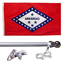 Arkansas Tangle Free Flagpole Set