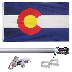 Colorado Tangle Free Flagpole Set, FBPP0000013404
