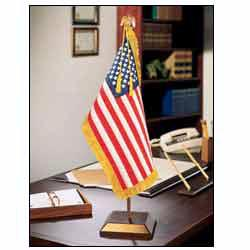 """U.S United States Presidential Embroidered Flag Desk Set With Stand 8/"""" X 12/"""""""