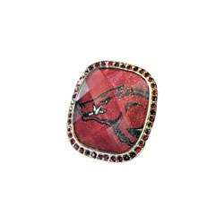 Arkansas Razorback Oversized Bling Ring, LA320BR