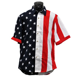 American Flag Button Down Shirt, LDPD102M