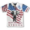 Republican Strong Flag Polo Shirt, LDREPUBM