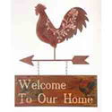 Rooster Welcome To Our Home Sign