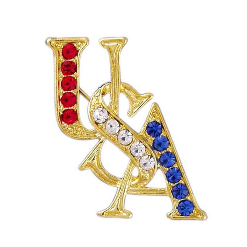 Crystal Accents USA Pin, LSP1690
