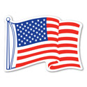 Waving American Flag Car Magnet, MAGAAFM0100