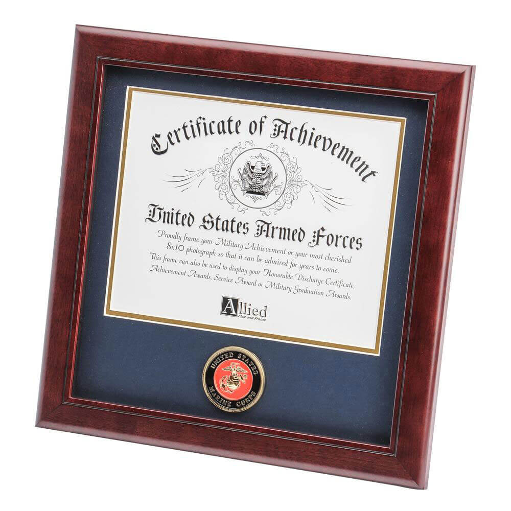 Marine Corps Certificate Of Achievement Frame