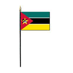 Republic of Mozambique Miniature Flag, MMOZA46