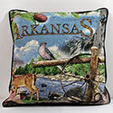 Arkansas Tapestry Throw Pillow, MSD3488WB2
