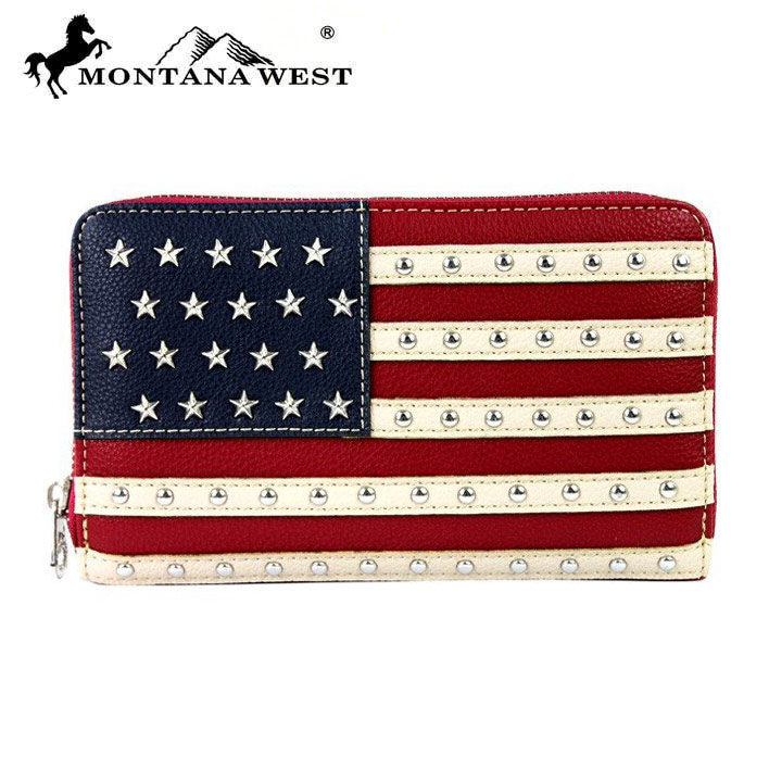 Montana West USA Collection Secretary Style Wallet, MTWMW378W010