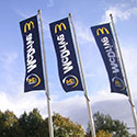 Specialty flags and poles for McDonald's restaurant