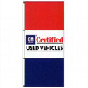 Double-Face GM Certified Used Vehicles Dealer Drape Flag, NABD237GM