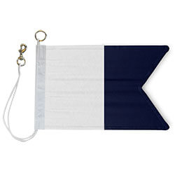 Nylon Rope Metal 'A' International Code Signal Flag, FBPP0000009304