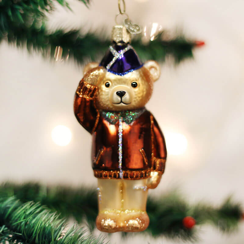 Old World Christmas Air Force Bear Ornament, OWC12401