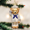 Navy Bear Ornament, OWC12404