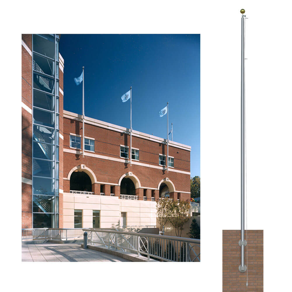 Commercial Vertical Wall Mount Flagpole Flagandbanner
