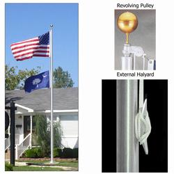 Ground Set Flagpoles External Halyard System, FBPP0000010587