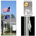 Ground Set Flagpoles External Halyard System