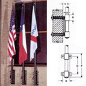 Tapered Shaft Vertical Wall-Mount Flagpole