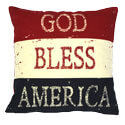 God Bless America Pillow, PARK42053P