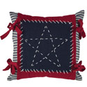 Stitched Star Accent Pillow, PARK75031