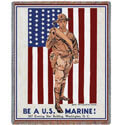 Be A Marine Throw Blanket, PCI1270T