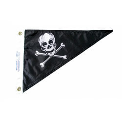 Jolly Roger Pirate Single Pennant, PENNPIRATE1015