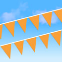Orange Heavy Duty String Large Pennants