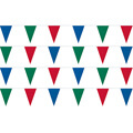 Red Blue and Green String Pennants