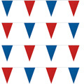Red/Blue String Large Pennants