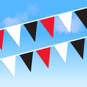 Red White and Black String Pennants