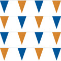 Blue and Orange String Pennants
