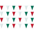 Red White and Green String Pennants