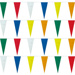 Assorted Colors String Icicle Pennants, PENNSCOL550