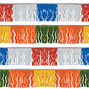 Assorted Colors Fiesta Fringe String Pennants