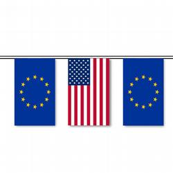 European Union & U.S. String Pennants, FBPP0000010355