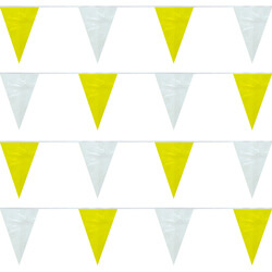 Yellow and White String Pennants, PENNS120YW