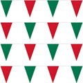 Red and Green String Pennants