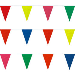 Assorted Colors String Pennants, PENNSPC50