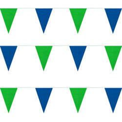 Blue and Green String Pennants, PENNSPC50BG