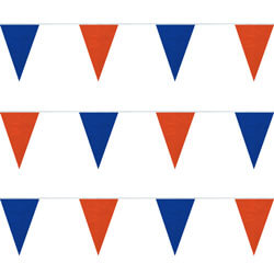 Blue and Orange String Pennants, PENNSPC50BO