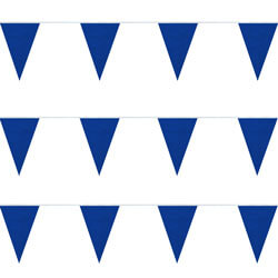 Blue Plasticloth String Pennants, PENNSPCR100B
