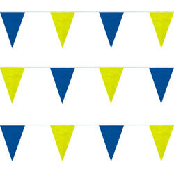 Blue Yellow String Pennants, PENNSPC50O