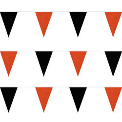 Black and Orange String Pennants, PENNSPC50Q
