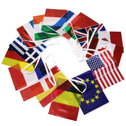 Assorted World Flags String Pennants, FBPP0000009635