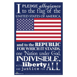 Pledge of Allegiance Poster,POSTERPLEDGE
